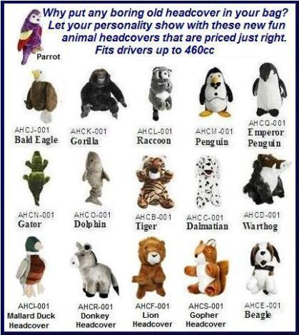 Animal Headcovers
