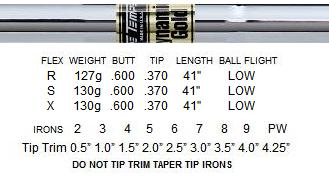 True Temper Dynamic Gold Steel Shafts